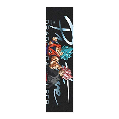 #NA Grip Tape,Skateboard Grip Tape Sheet 33 X 9 Inch ,Grip Tape for Skateboard,Black Grip Tape, Bubble Free Scooter Grip Tape (Dragonball DBS Versus)
