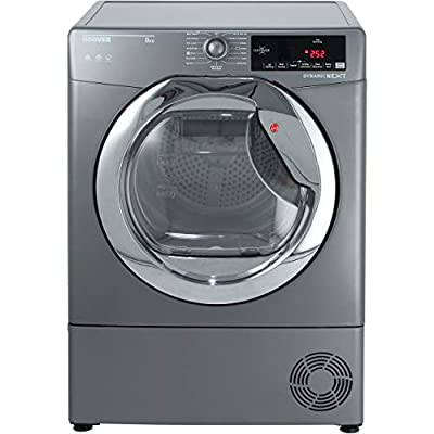 Hoover Dynamic Next Advance DXC8TCER 8Kg Condenser Tumble Dryer - Graphite