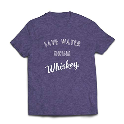 lepni.me Mannen T-shirt Save Water Drink Whiskey Funny Whiskey Lover Gift