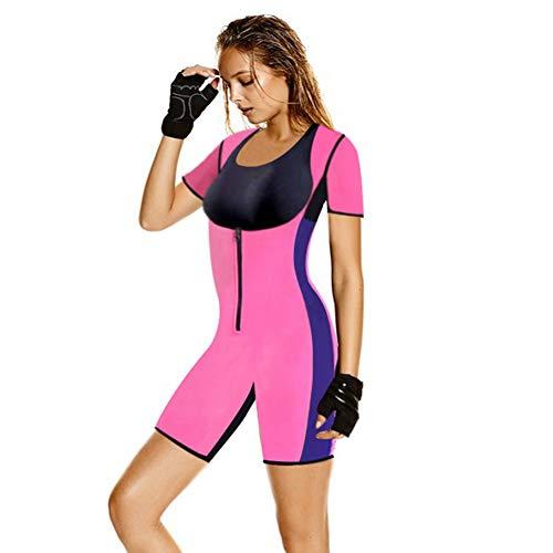 HXZB Dames Sport Neopreen Volledige Body Shapewear Snelle transpiratie Rits Afslanken Sauna Pak