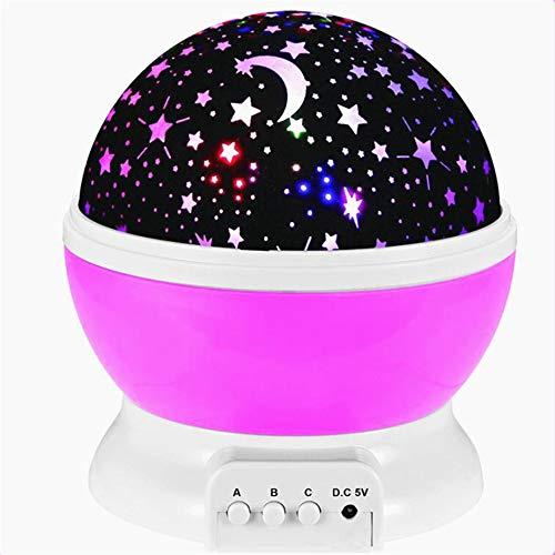 Proyector Galaxy con luz LED giratoria de cielo estrellado, planetario, dormitorio infantil, estrella, luces nocturnas, luz lunar, lámpara de regalo para niños
