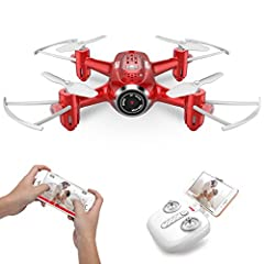 USER-FRIENDLY : SYMA X22W drone is user-friendly. Just press a button and it will take off or land. Headless mode, real-time live video and the fascinating 360° flips & rolls function is convenient for beginners. POWERFUL & SAFE : Protective propelle...