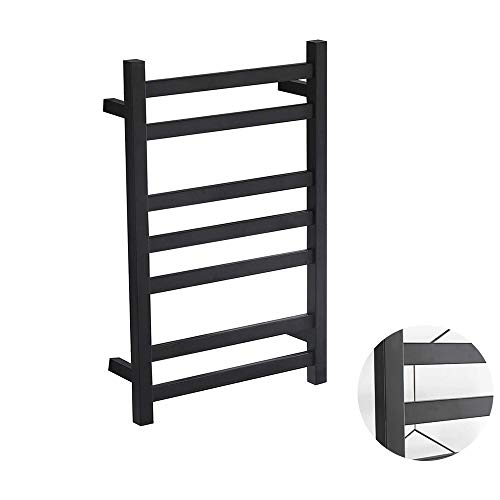 XSGDMN Wall Mounted Electric Towel Rack, Hot Towel Warmer for Bath, Heated Drying Rack Matte Black, with Switch, The Best Choice for Your Bathroom Decoration,Hardwired