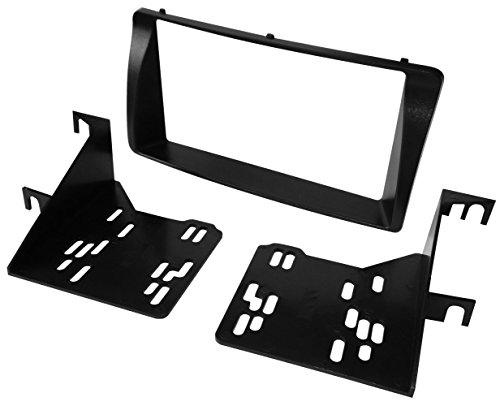 Aerzetix - autoradio-adapter radio diafragma autoradio frame adapter 2 DIN zwart