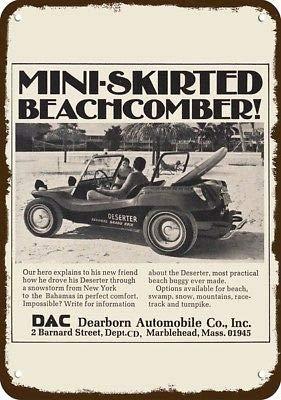Laptopo 1969 Deserter Dune Buggy Beach Sand Vintage Look Metal Sign- Dearborn Auto DAC