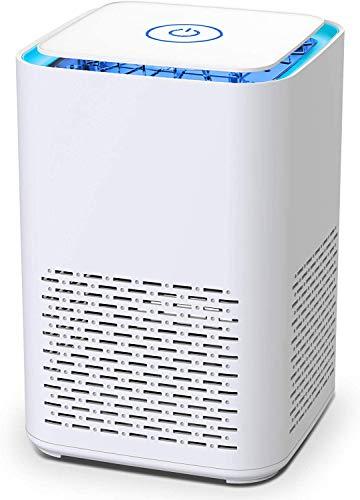 空気清浄機 小型 卓上 花粉対策 脱臭 アロマ対応 8畳 静音 2段階風量 hepaフィルター 微粒子99.97%除去 PM2.5 ホコリ取り 空気清浄器 卓上 コンパクト 持ち運び 軽量 省エネ USB給電 消灯機能搭載 1年品質保証 ホワイト