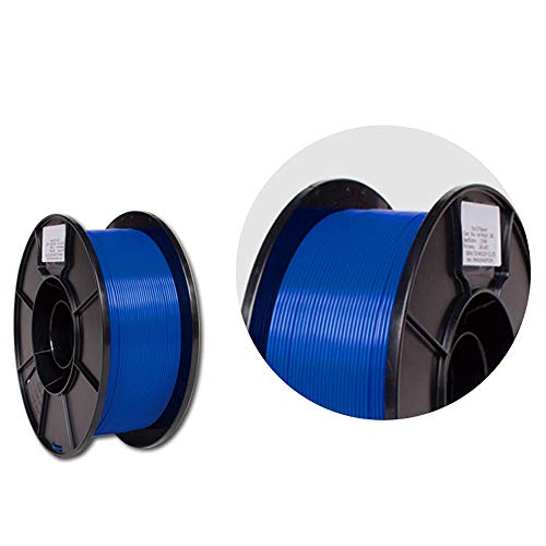 SHENLIJUAN 3D Printer 1.75mm Filament PLA 3D Printing PLA Filament 1KG Spool for 3D Printers 3D Pens (Fluo Red Blue Orange) (Color : E blue, Size : Free)