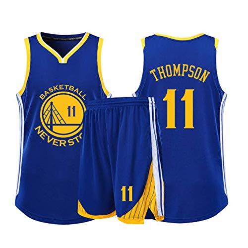 Camiseta De Baloncesto Para Hombre - Warriors Golden State # 11 Thompson Camiseta De Verano Bordada Y Transpirable Uniforme De Baloncesto Camiseta Deportiva Camisetas Unisex Y Un Conjunto Corto
