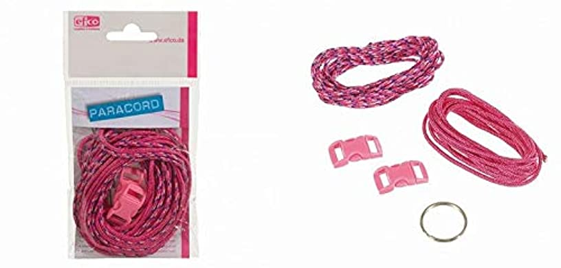 Efco Paracord Starter kit Assorted 2 mm x 2 m 5 Parts Fuchsia White Blue, Polyester Blend, 20 x 10 x 5 cm