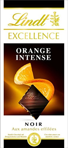Lindt La Excelencia De La Tableta De Chocolate Negro Naranja Intense100 Glot 5 Tabletas