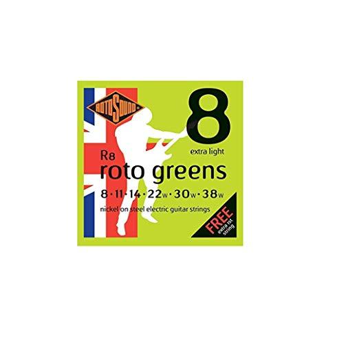 Rotosound R8 - Juego de cuerdas para guitarra eléctrica de níquel, 11...