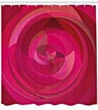 taquxinlaowan Hot Pink Duschvorhang Abstract Swirls Shapes Print für Badezimmer