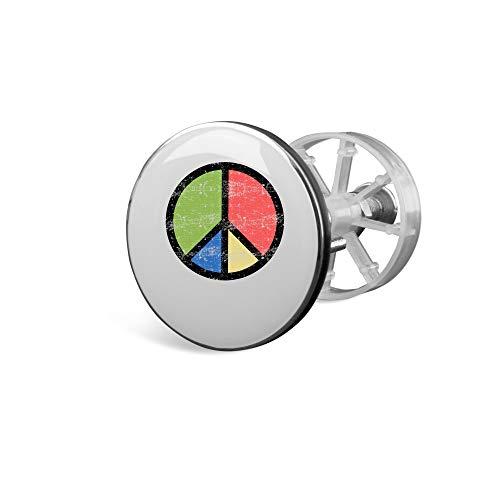 SPIRITSHIRTSHOP Retro Inverse Friedenszeichen Hippie-Symbol | Waschbecken Universal Stöpsel Abfluss Waschbeckenstöpsel Plug | hochwertige Qualität