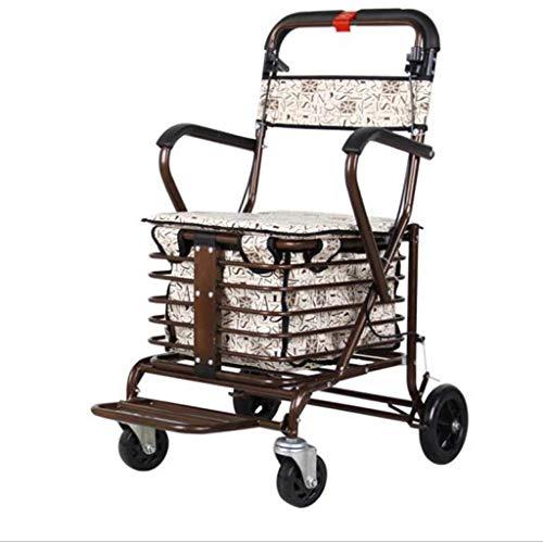 WXDP Selbstfahrend Walker, Rollatoren/Gehhilfen Walker Rollator/Gehhilfe/Walker Rollator für ältere Menschen Einkaufen/Trolley für ältere Menschen tra