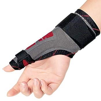 ORTONYX Thumb Immobilizer Brace Thumb Spica Support Splint- Arthritis Pain Sprains Strains Carpal Tunnel - Wrist Strap - Left or Right Hand