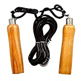neulife Wooden Handle Freestyle Skipping Rope #Black