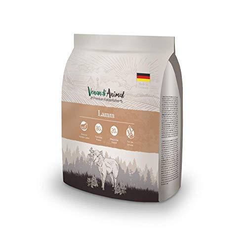 Venandi Animal Premium Trockenfutter für Katzen, Lamm,getreidefrei mit viel frischem Fleisch, 300 g