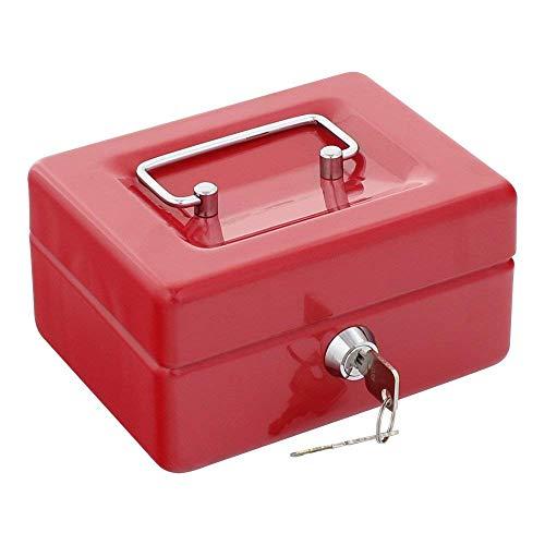 Rottner Geldkassette Traun 1 Rot, Geldzählkassette, Kasse, Geldeinsatzeinteilung, Zylinderschloss, Einteilung