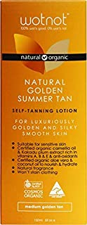 Wotnot Natural and Organic Medium Golden Self-Tan Lotion, 150 Milliliter