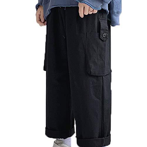 Generic11 Pantalones Cargo para Hombre Pantalones Rectos y Holgados agradables a la Piel para el Uso Diario Bolsillo para Llevar Decorar Monos Transpirables