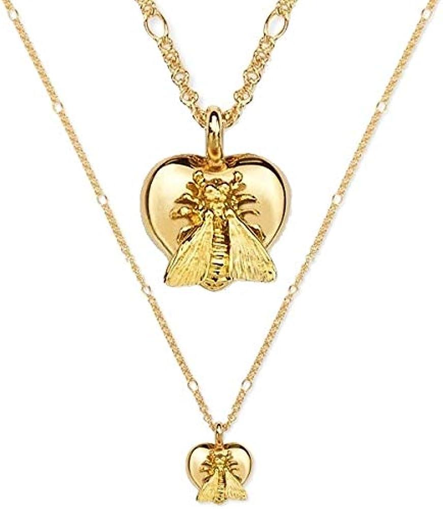 Gucci collana donna le marche des merveilles cuore ape in oro 18 kt YBB415249001