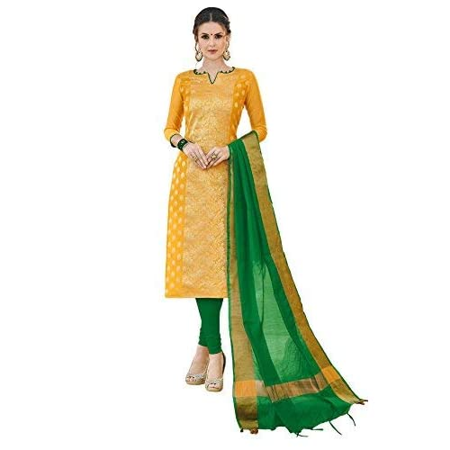 2469d1c40a Viva N Diva Salwar Suit Dupatta For Women's Banarasi Art Silk Woven  Un-Stitched Dress