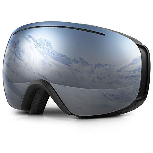 Terra Hiker Skibrille Brillenträger Snowboard Schutzbrille , Anti-Nebel Schneebrille, Over-The-Glasses Weitwinkelbrille mit 100% UV-Schutz und auswechselbarer Scheibe