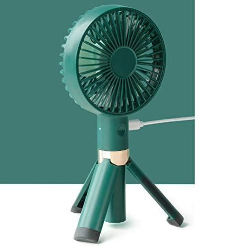 Desktop Statief Draagbare Kleine Ventilator, USB Travel Mini Handheld Fans Met 30 ° Diagonale Cycloon Fan Blade En Gemakkelijk Gewassen Voor Thuiskantoor Travel,Green