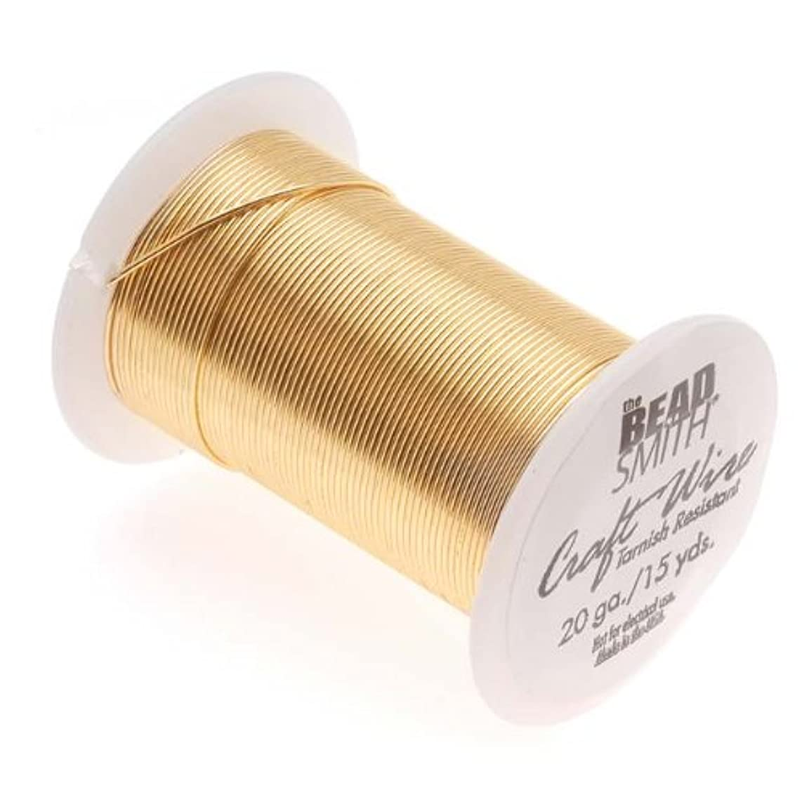 Beadsmith 20 Gauge Tarnish Resistant Copper Wire, 15 Yard/13.5m, Gold