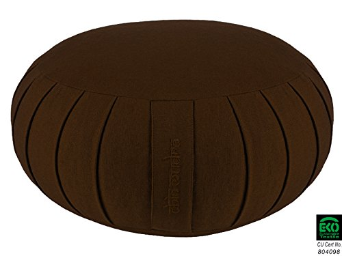 Zafu standard in cotone biologico 100% kapok, Chocolate