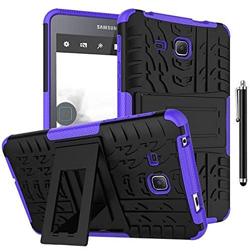 Gndy Funda para Galaxy Tab A6 7.0 2016 SM-T280/SM-T285, resistente híbrido resistente funda protectora rígida de doble capa con soporte para Samsung Galaxy Tab A6 7.0 2016 SM-T280 SM-T285, verde