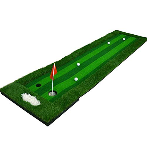 FUNGREEN Golf Mat 1.64x9.84FT Indoor Golf Putting Green Practice Hole Cup Flagstick Eco-Friendly Homemede Backyard Golf Green