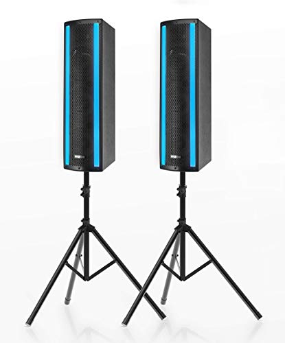Portable Bluetooth PA Speaker System - 3-Way Active & Passive Outdoor Bluetooth...