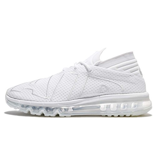 Nike Air Max Flair Mens Running Trainers 942236 Sneakers Shoes (UK 11 US 12 EU 46, White Pure Platinum 100)