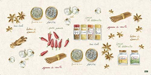 Vilber Gran Chef Canela Alfombra, Vinilo, Multicolor, 50x100x0.2cm