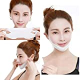 V Shaped Slimming Face Mask Double Chin Reducer V Line Lifting Mask Neck Lift Tape Face Slimmer Patch For Firming and Tightening Skin(5pcs)