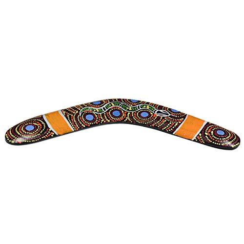1 Deko Bumerang Holz ca. 30cm Dotpaint-Design Holz-Bumerang Boomerang Dekoration, Variante:Variante 3