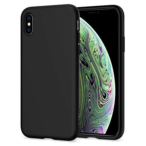 Spigen Cover Liquid Crystal Compatibile con iPhone XS Compatibile con iPhone X - Matte Black