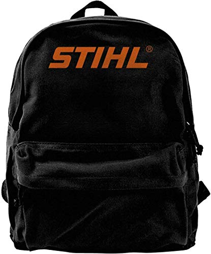 Canvas Backpack Stihl Chainsaw Saw Lumber Outdoor Hunt Cabin Sport Rucksack Gym Hiking Laptop Shoulder Bag Daypack for Men Women