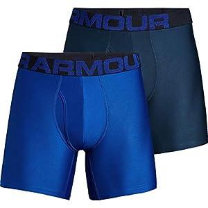 Under Armour Tech 6in Underwear - 2-Pack - Men's Royal/Academy, XL