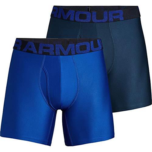 Under Armour Tech 6in Underwear - 2-Pack - Men's Royal/Academy, L
