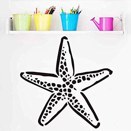 Pegatinas de pared 40X43 cm Estrella de mar Etiqueta de la pared Bajo el mar Océano Art Decal Papel pintado impermeable para habitación de niños Baño Decoración para el hogar Pegatinas de bricolaje