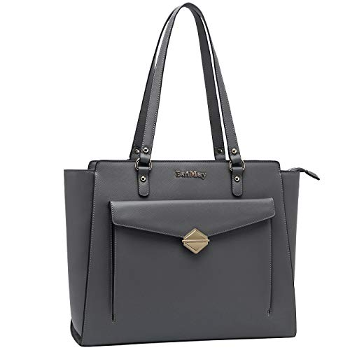 Laptop-Bag,Laptop-Bag-for-Women 15-15.6 Inch Briefcase-for-Women Large Capacity Work-Tote-Bags Sturdy Laptop-Shoulder-Bag Computer Purse for Ofiice Ladies Teachers Students,gray