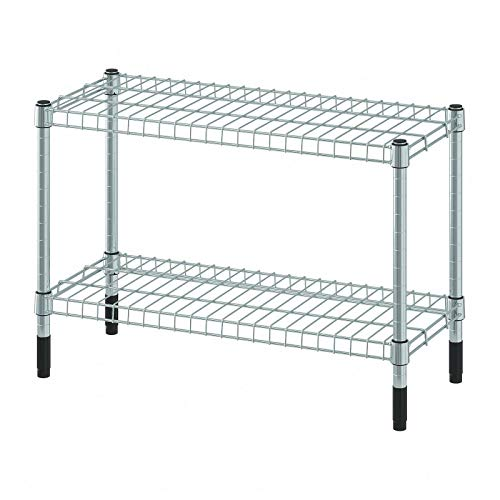 Ikea OMAR - Estantería de cocina (2 niveles, galvanizado, 60 x 25 x 40 cm)