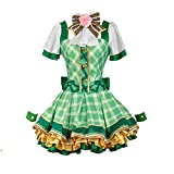 DUNHAO COS Anime Women's LoveLive!Sunshine! Hanayo Koizumi Green Dress Uniform Suit Cosplay Costume XL