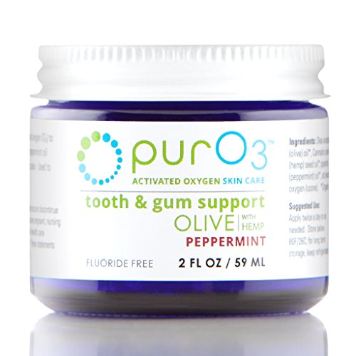 PurO3 Tooth and Gum Support (Peppermint) - Ozonated Oil for Teeth and Gums