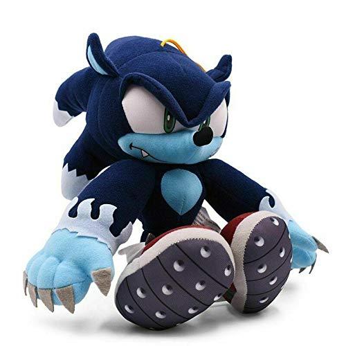 Hzong 30Cm Sonic TheWerehogMuñeco De Peluche JuguetesAzul Oscuro Sombra SonicPelucheFelpa Suave Juguete De Peluche Niños Dibujos Animados