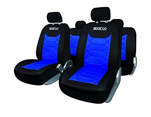 Sparco SPC1016AZ Juego DE Fundas DE Asiento BK, Negro/Azul