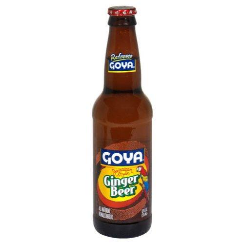Goya Soda Ginger Beer, 12 Ounce (24 Glass Bottles)