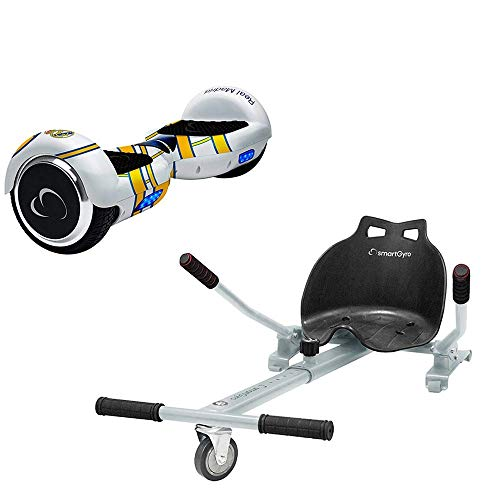 SMARTGYRO X2 Real Madrid + GO Pack Patinete Eléctrico + Kart, Certifi